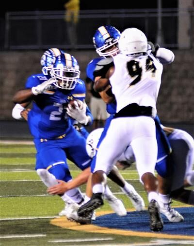 Anthony Young has a big (140 yards) night Friday in Greenville..
