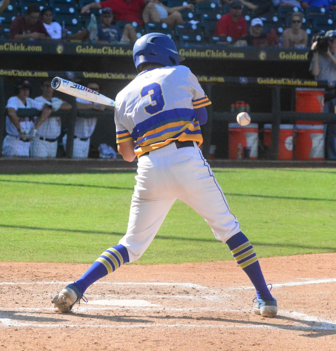 Cade Johnson delivered the only RBI hit against Heritage