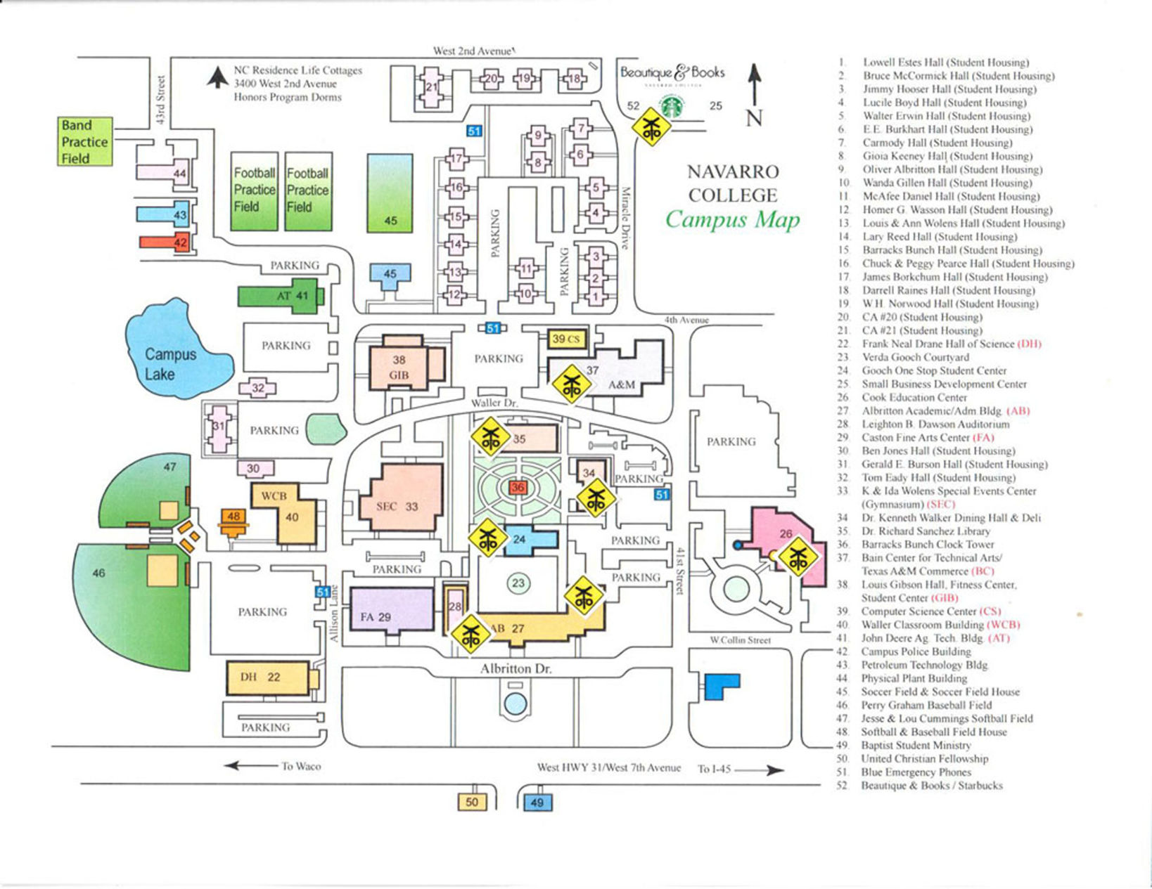Navarro College Campus Map.Navarro College Waxahachie Campus Map Www Miifotos Com