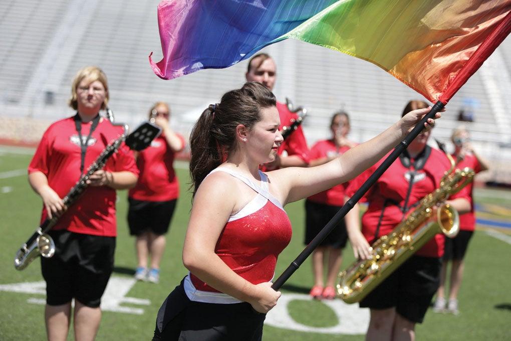Navarro College Band & color guard