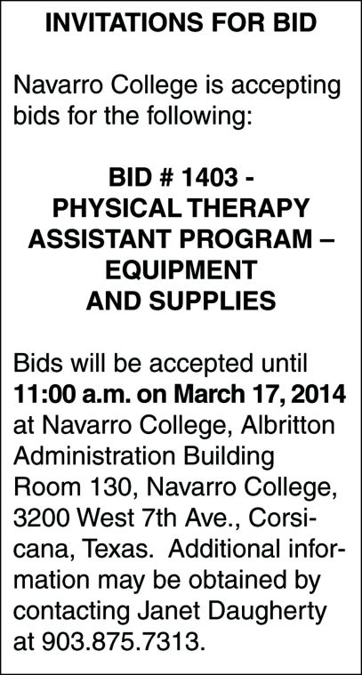 03010107011 Navarro College Bid ad.jpg