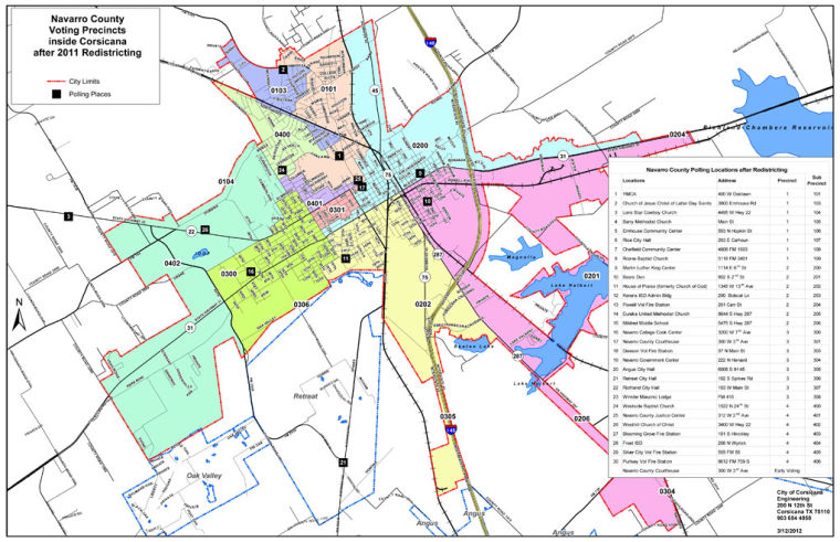 Voting precinct maps for Navarro County | Archives ...