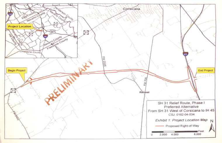 Highway 31 Relief Route Groundbreaking Ceremony 4 Pm Thursday - Corsicana Tx Us Map