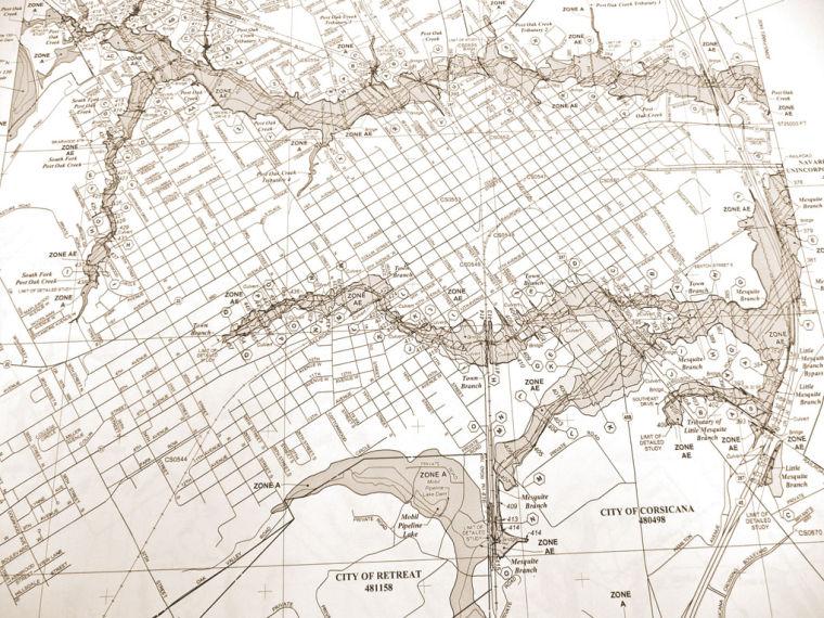 Flood Maps Unveiled Wednesday Local News Corsicanadailysuncom - Corsicana Tx Us Map