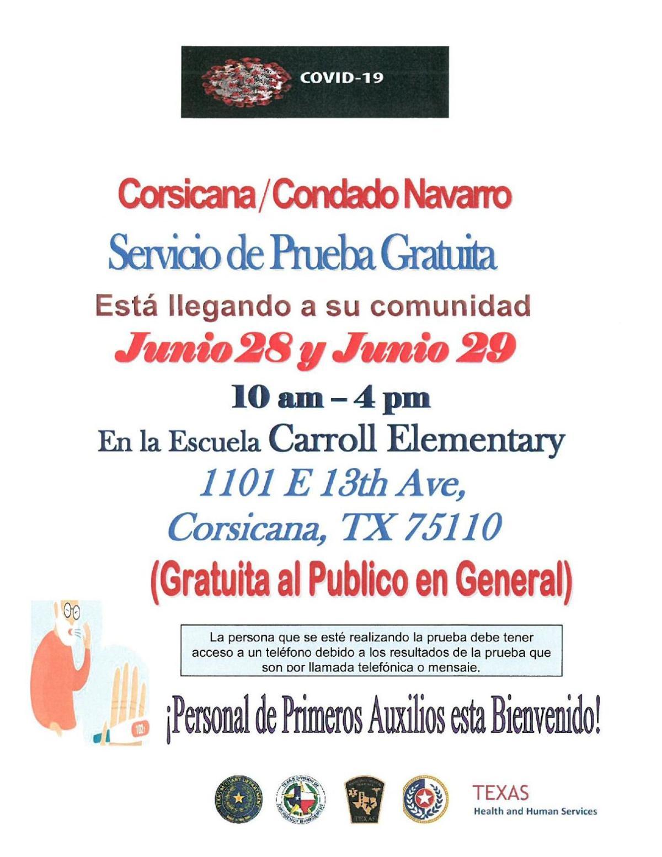 6-25-20 COVID Testing Corsicana - Spanish.pdf