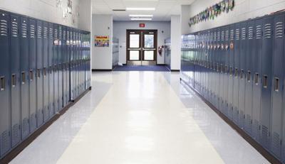 Empty School Hallway.TIF