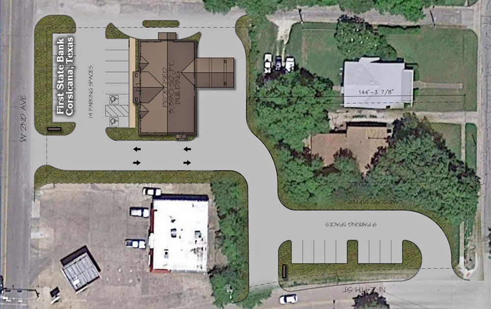 Corsicana City Council approves First State Bank parking lot zoning