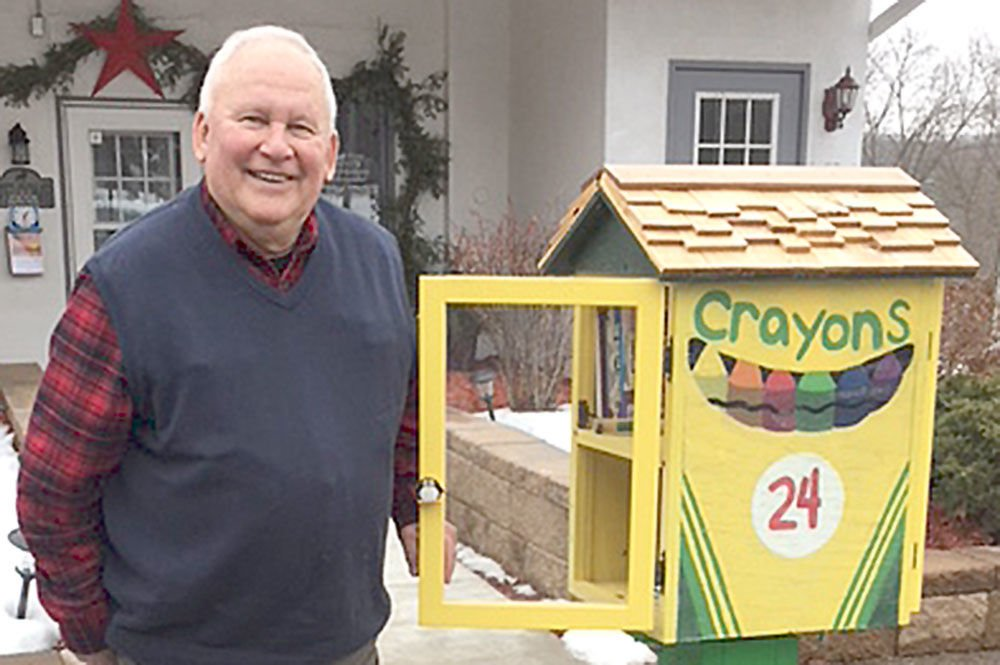 Self-appointed caretaker keeps little library in working order