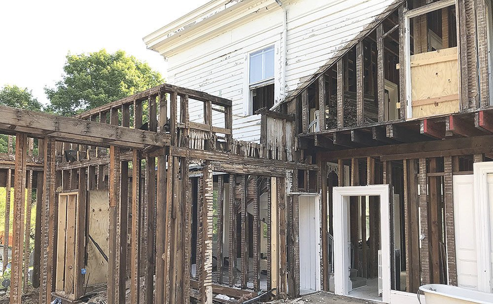 Renovations underway at Asa Parker House