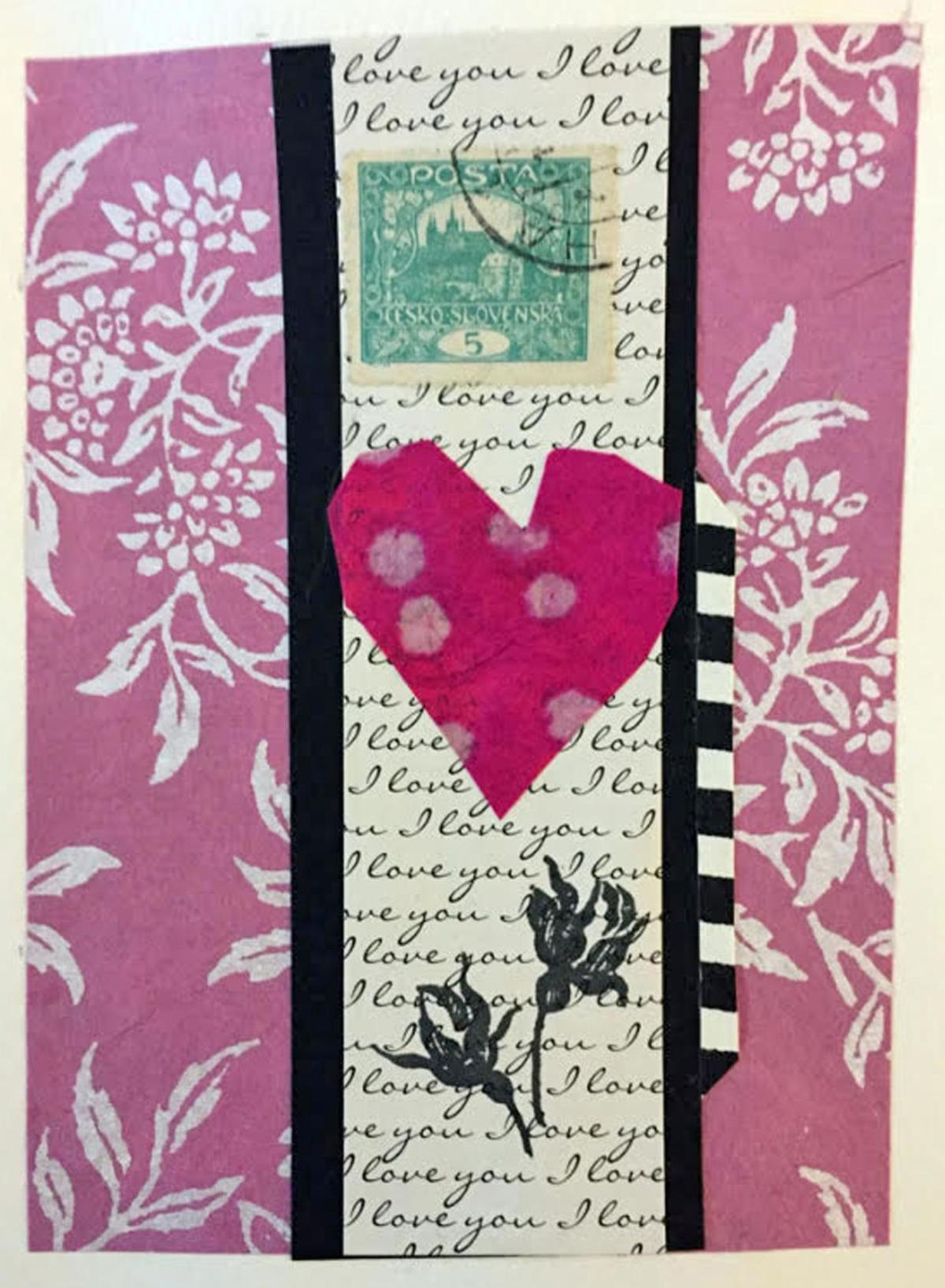 At Flanders Nature Center make a Valentine collage for your sweetheart
