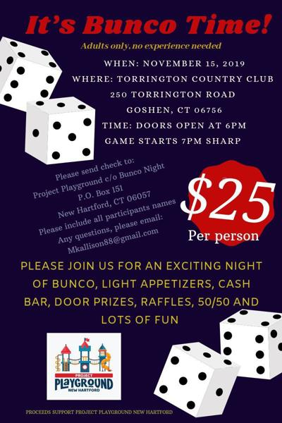 New Hartford's Project Playground holding Bunco Night Nov. 1
