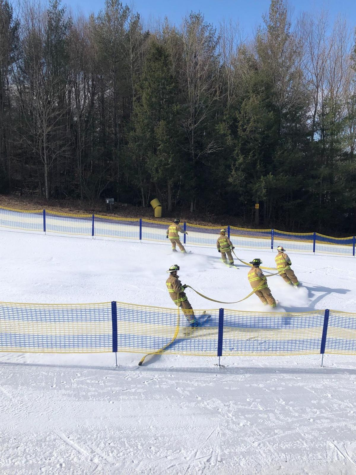 Mohawk Mountain holds firefighter charity ski competition