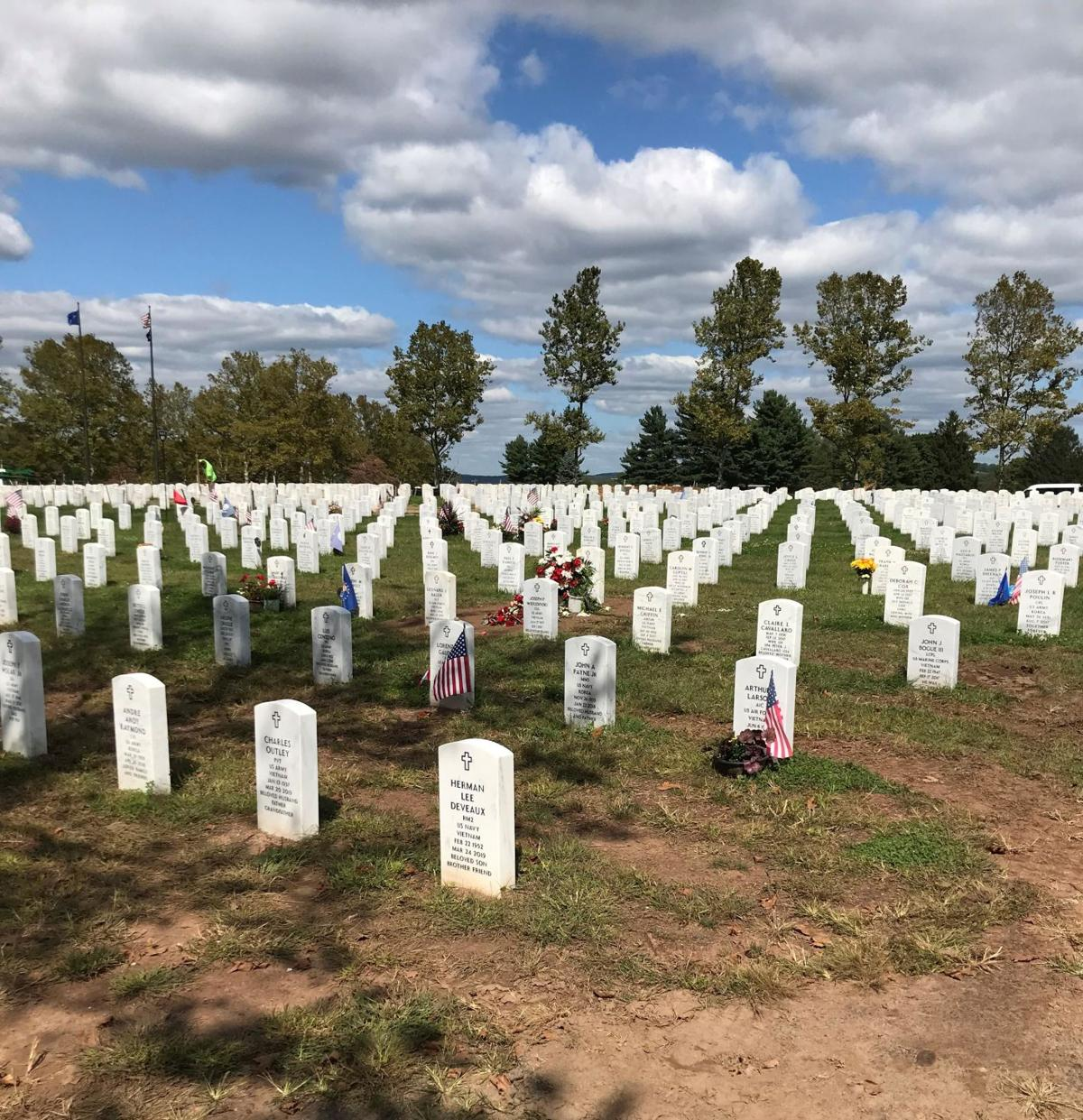 Workers from across state help beautify Connecticut Veterans Cemetery