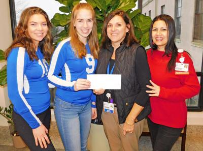 Lewis Mills volleyball team raises $1,335 for CHH Pink Rose Fund