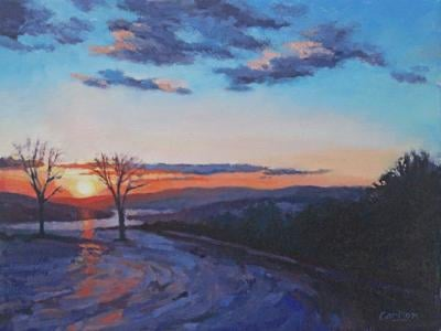 'Water and Sky' oil paintings exhibited by artist Beth Carlson