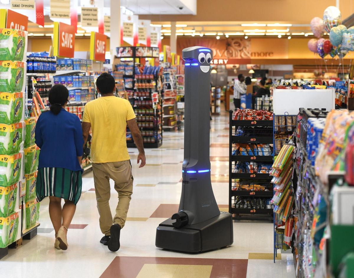 Don't worry, shoppers, they wipe Marty, Stop & Shop's aisle-roaming robot