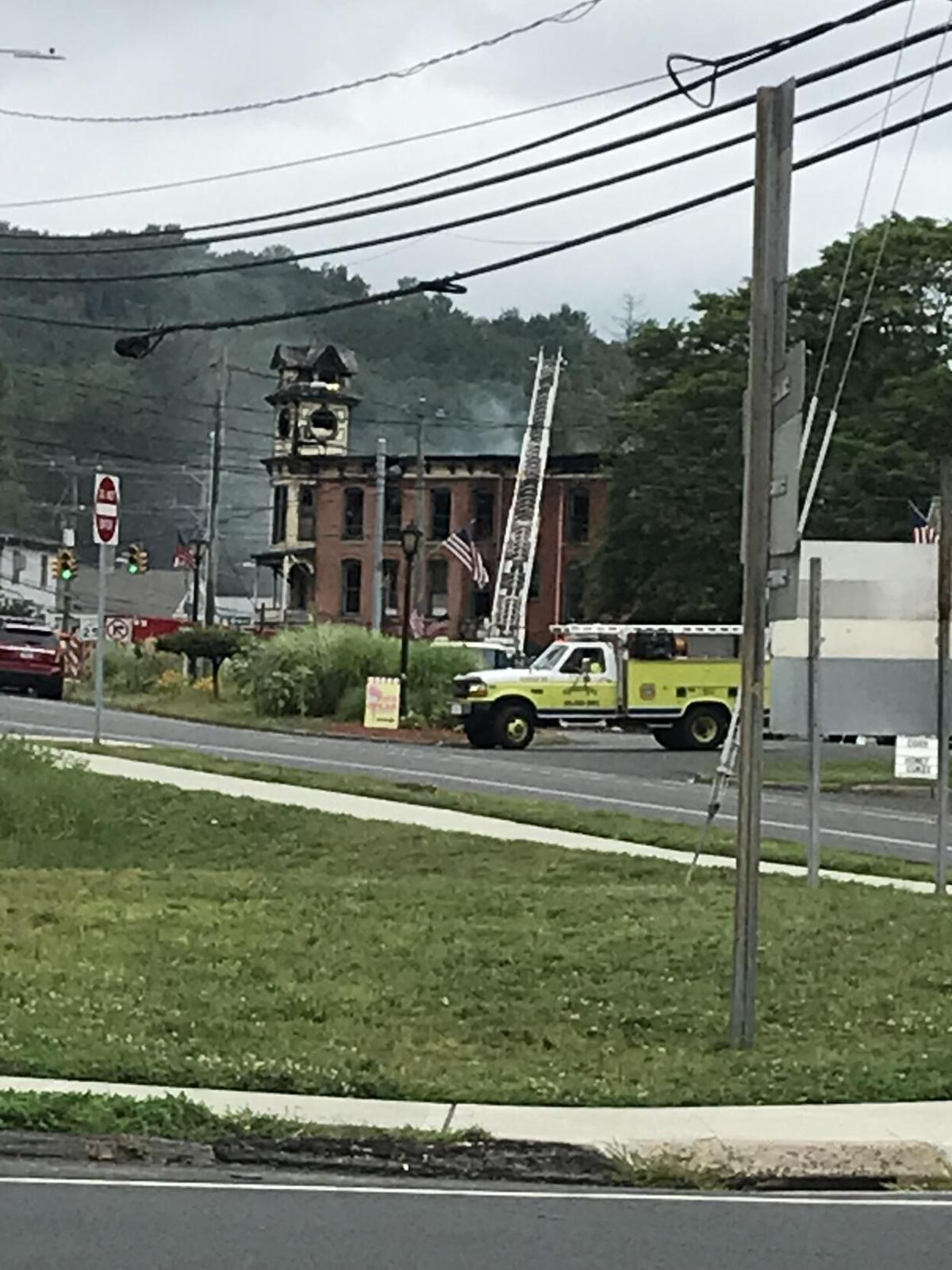 New Hartford building damaged by fire demolished, 'a very hard decision'