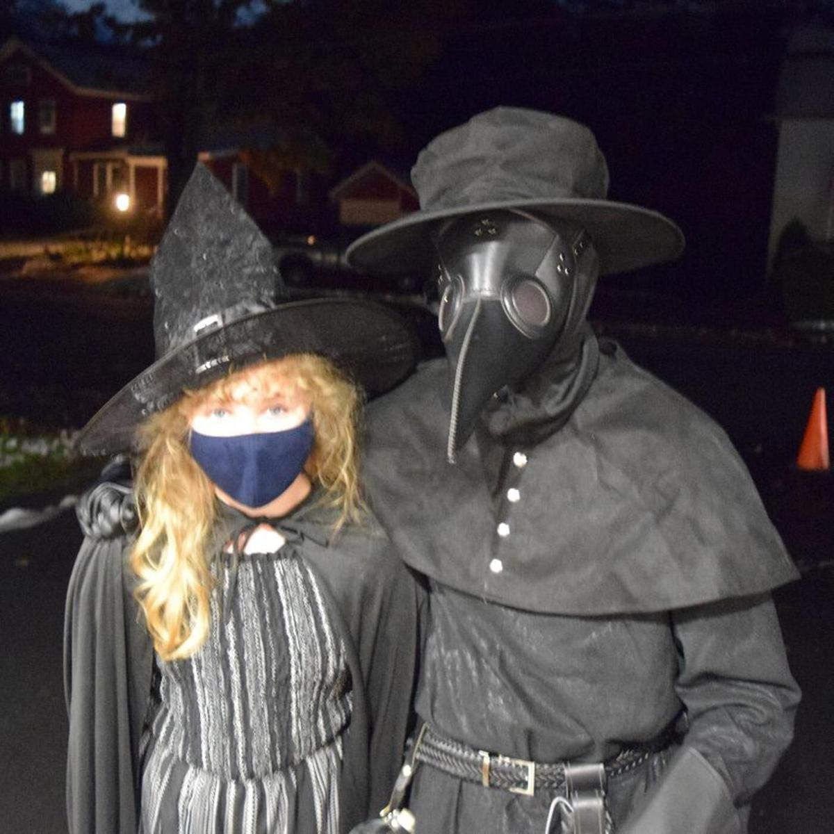 Town firefighters delight Halloweeners throughout Litchfield with candy treats