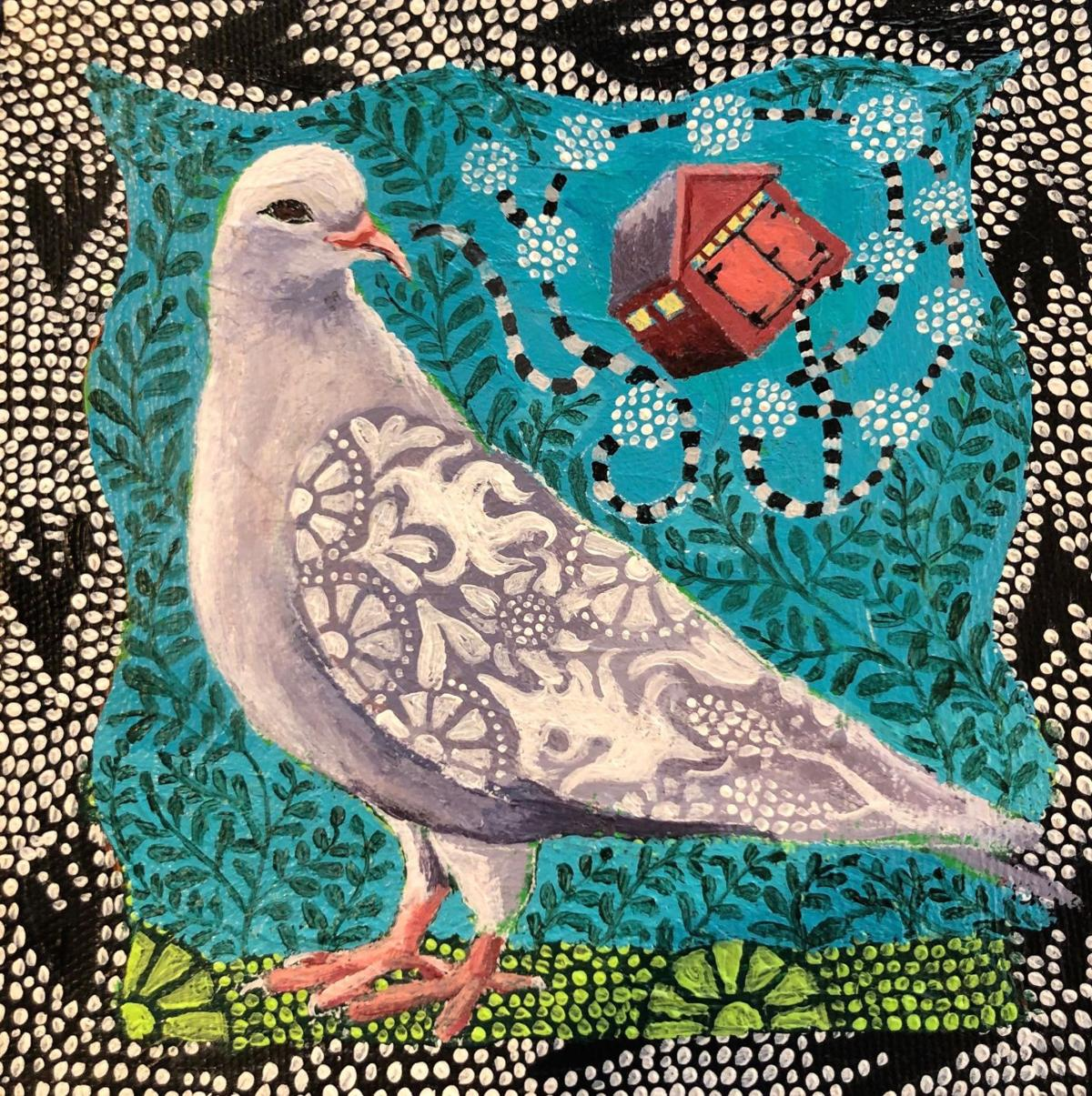 At David M. Hunt Library in Falls Village, Danielle Mailer exhibits colorful, intricate works