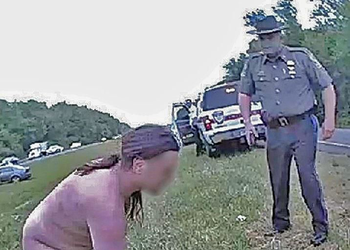 CT's highest-ranking state cop helps naked man on roadway