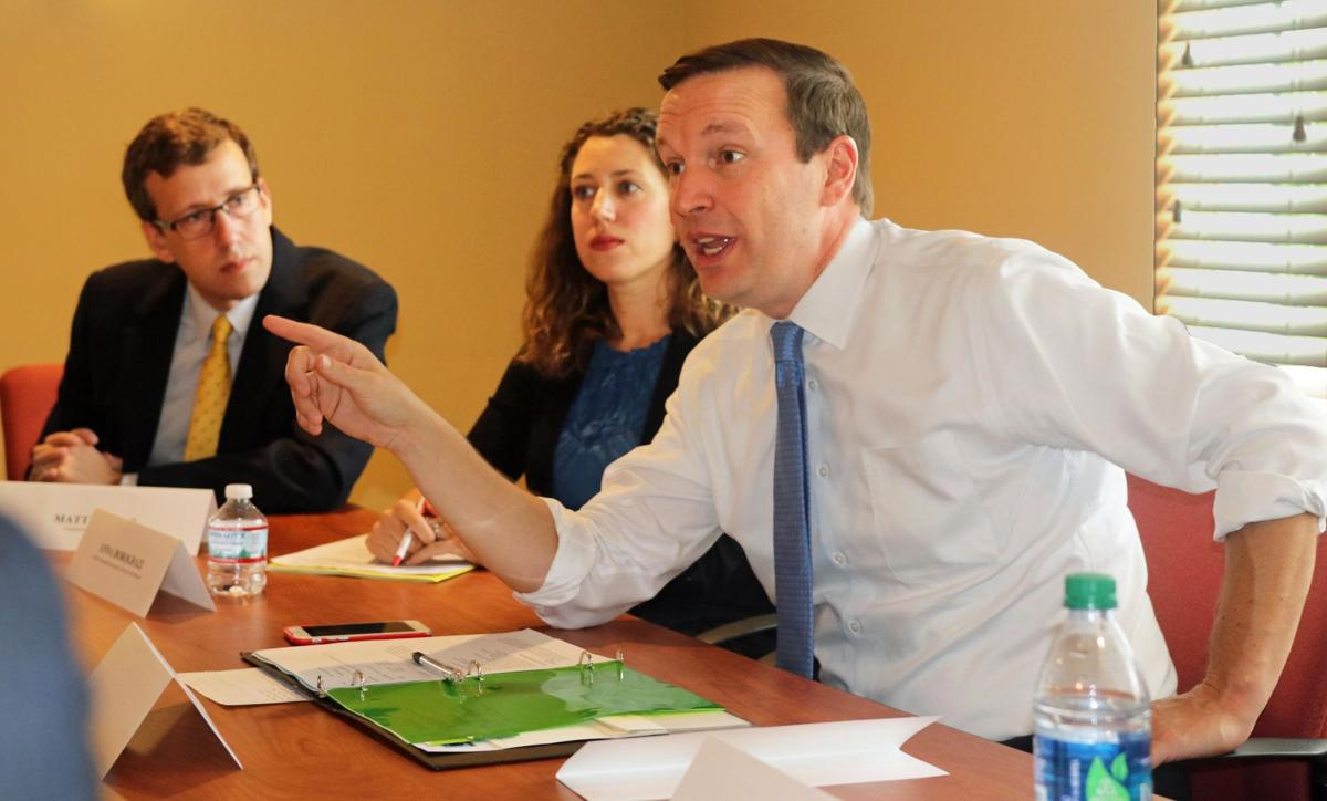 Murphy talks soaring drug costs at Middletown round table
