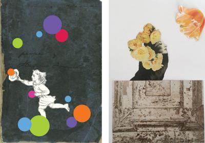Patrice Allison Galterio collages show at Souterrain Gallery in West Cornwall
