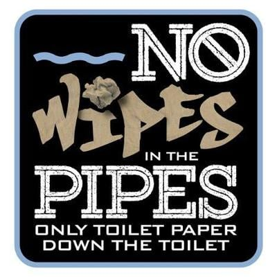 Winchester: Don't flush wipes, paper towels