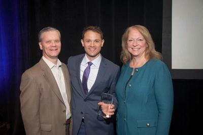 Insurance agent receives the JoAnn Heltibridle Award for Excellence