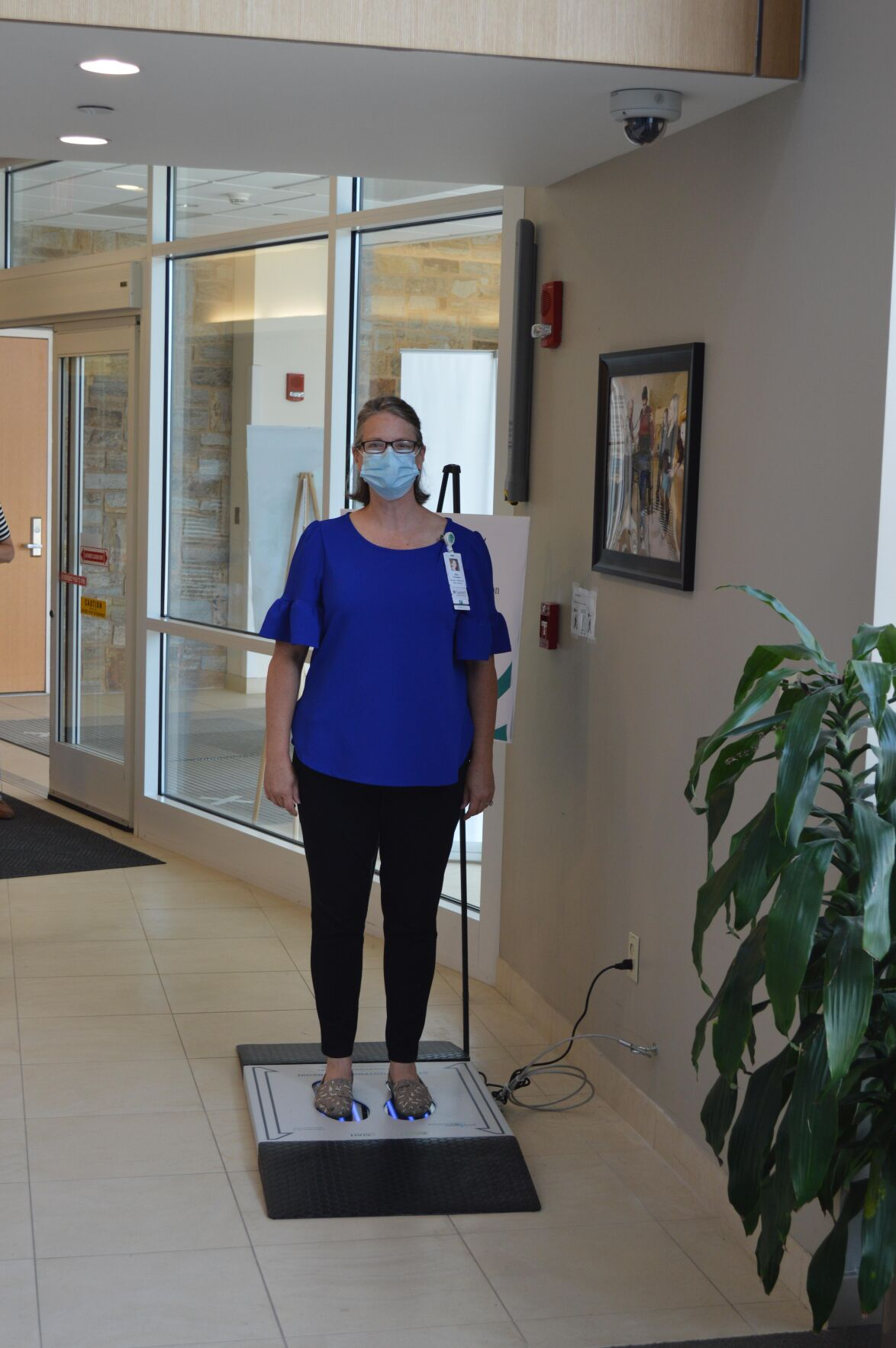 Wallingford health care provider begins using new shoe disinfection technology amid pandemic