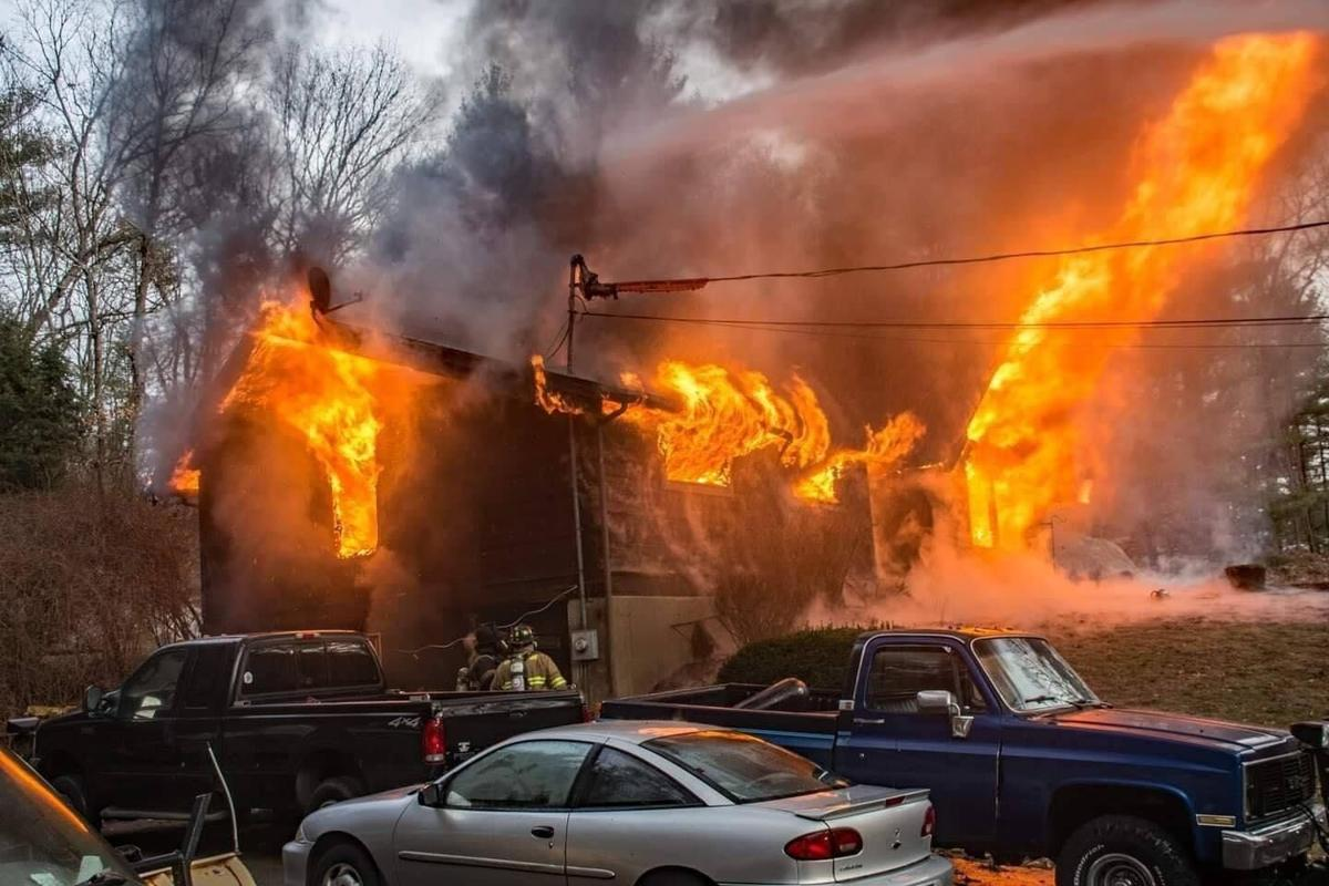 'Everything has been ripped away': Fire destroys Thomaston family's home