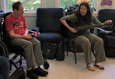 Music therapist brings energy, enjoyment to LARC every week
