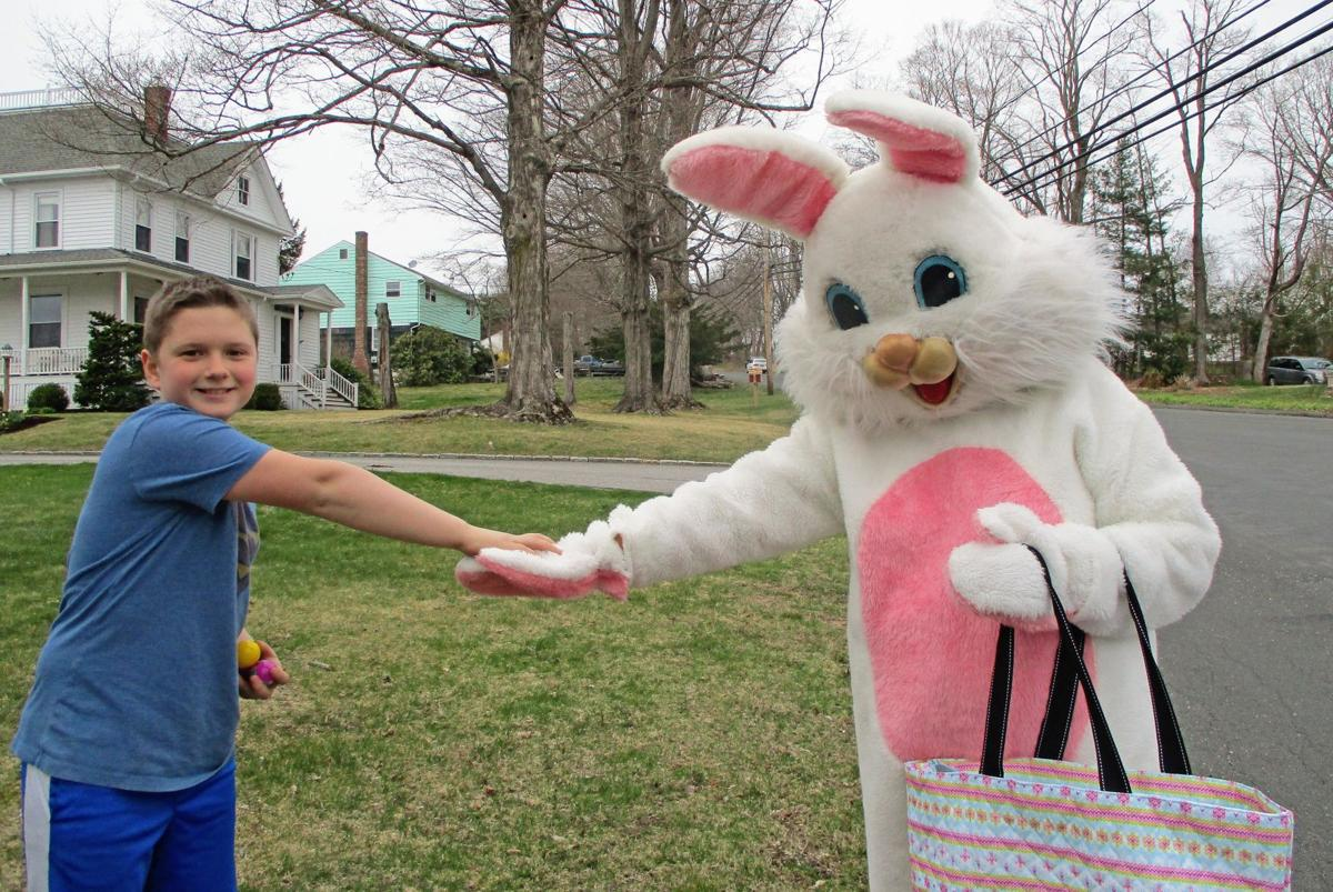 Easter Bunny visits Northfield, leaves eggs and treats for kids along the way