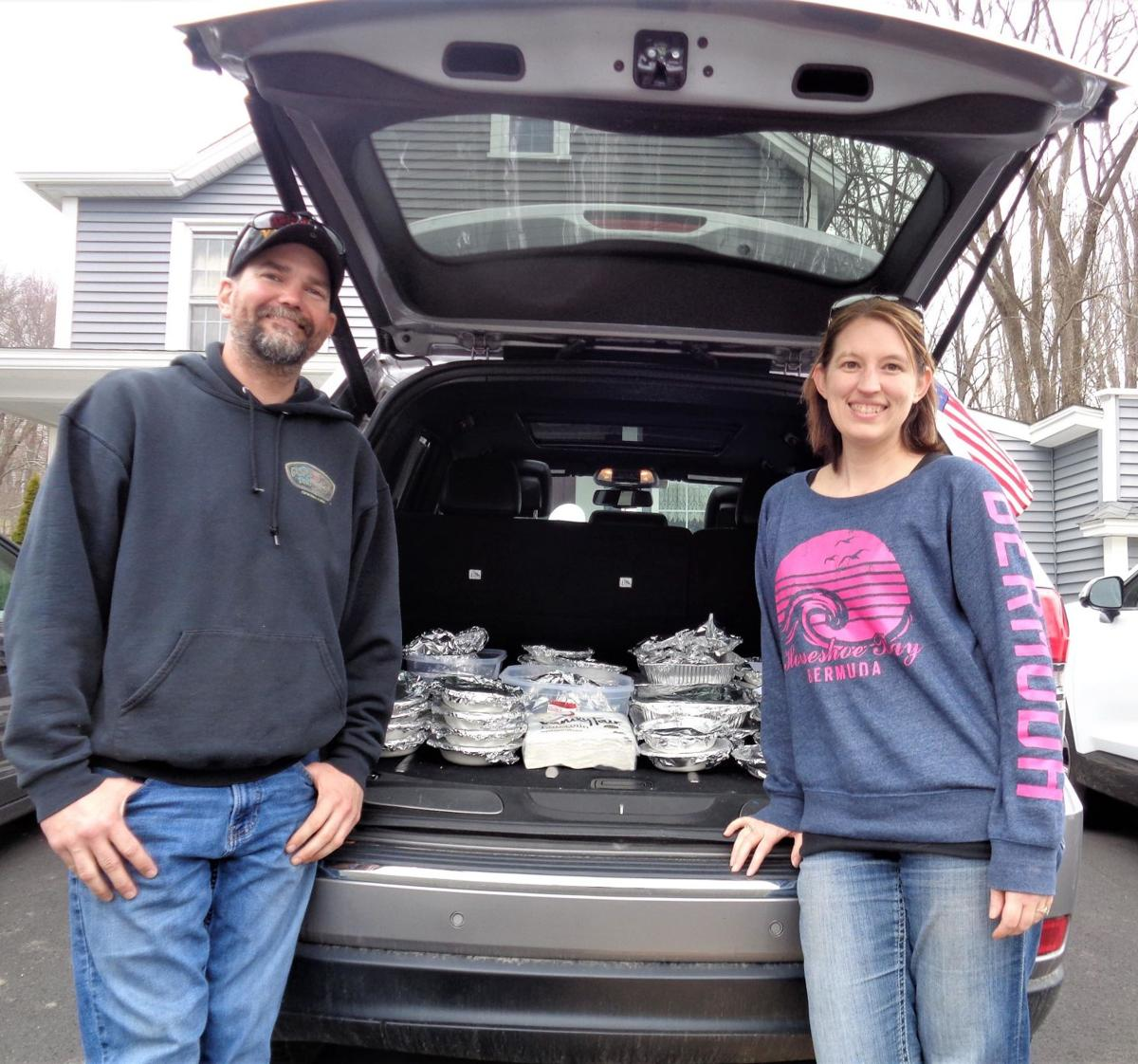 Harwinton couple brings cheer to those alone on Easter Sunday