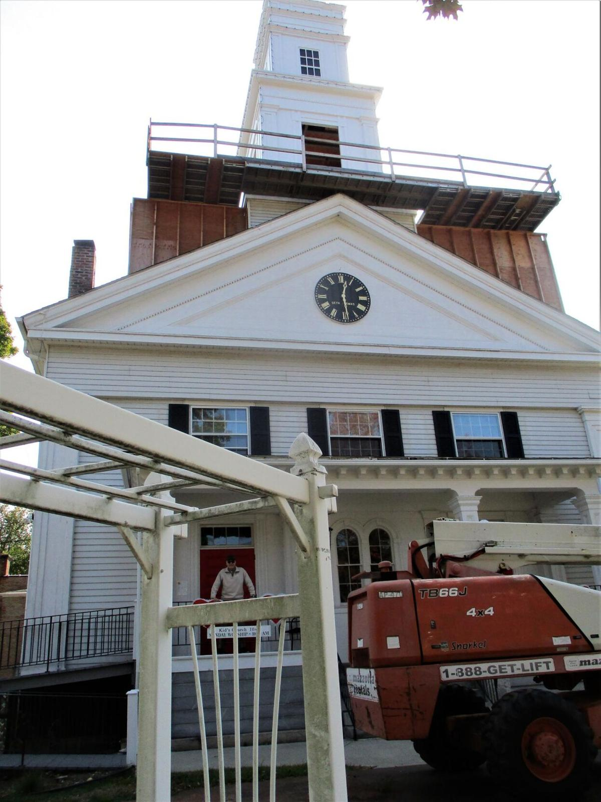 Eye on History: First Congregational Church of Thomaston gets a facelift for its bell tower