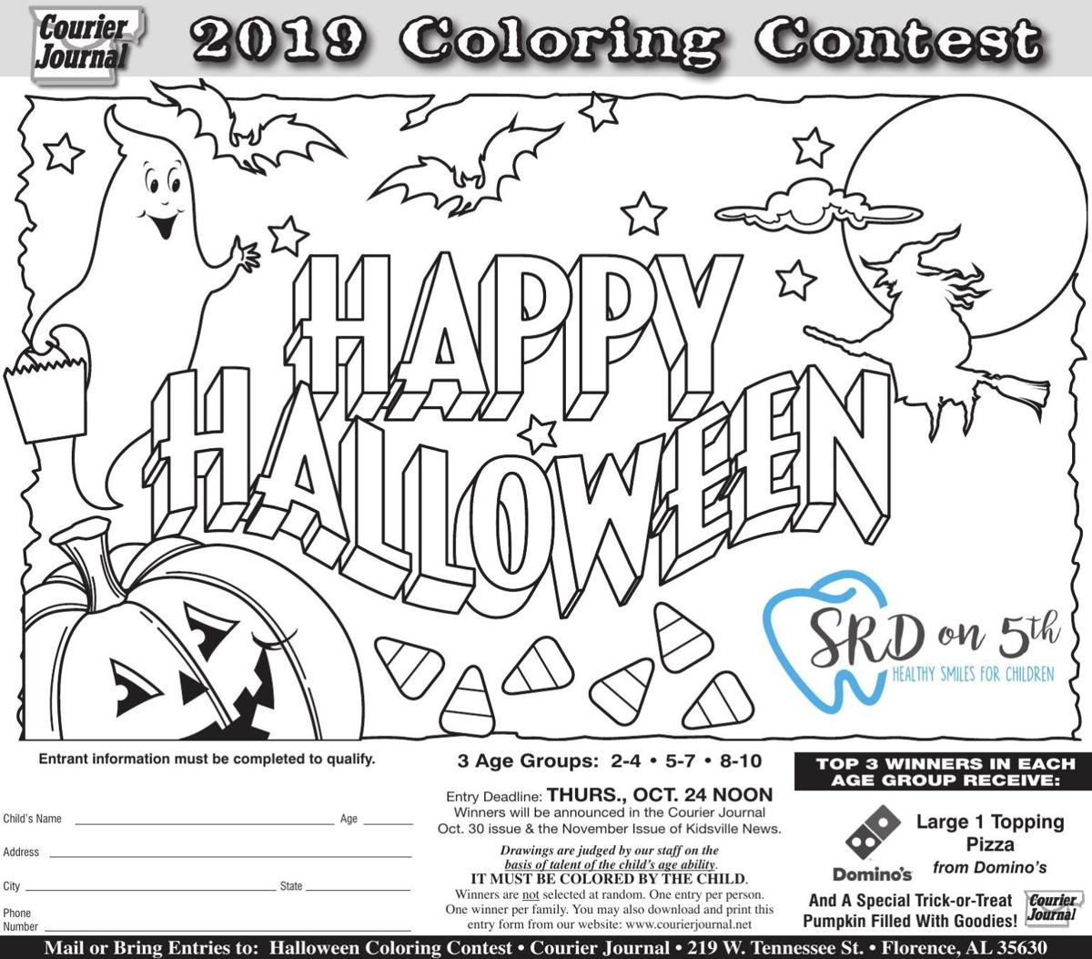 Halloween Coloring Contest 2019