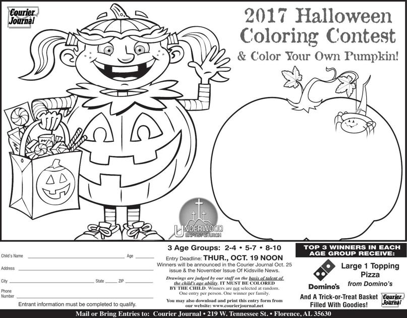 2017 halloween coloring contest courier journal home - Halloween Coloring Contest 3