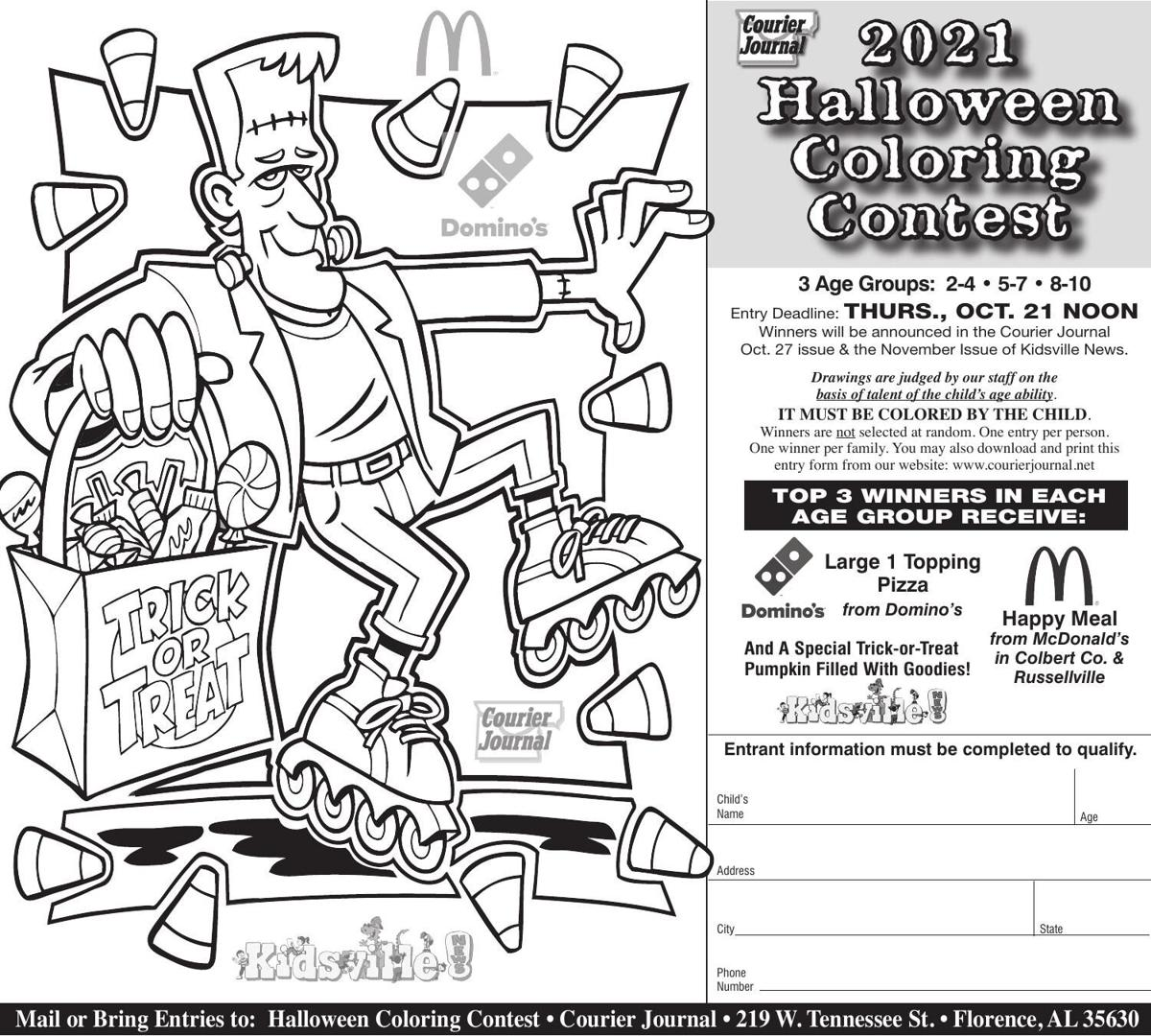 Halloween Coloring Contest 2021