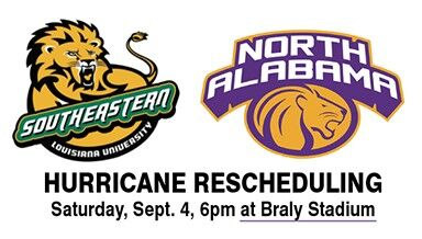 UNA Football Opener Moved To Florence Saturday At 6:00 pm At Braly Stadium