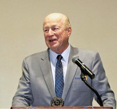 Florence Rotary's Lewis Installed to District Post