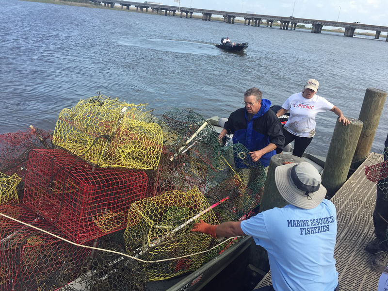 Derelict Crab Traps Removed from Mobile Bay | Online Only ... on barn with ramp, trailer with ramp, brick home with ramp,