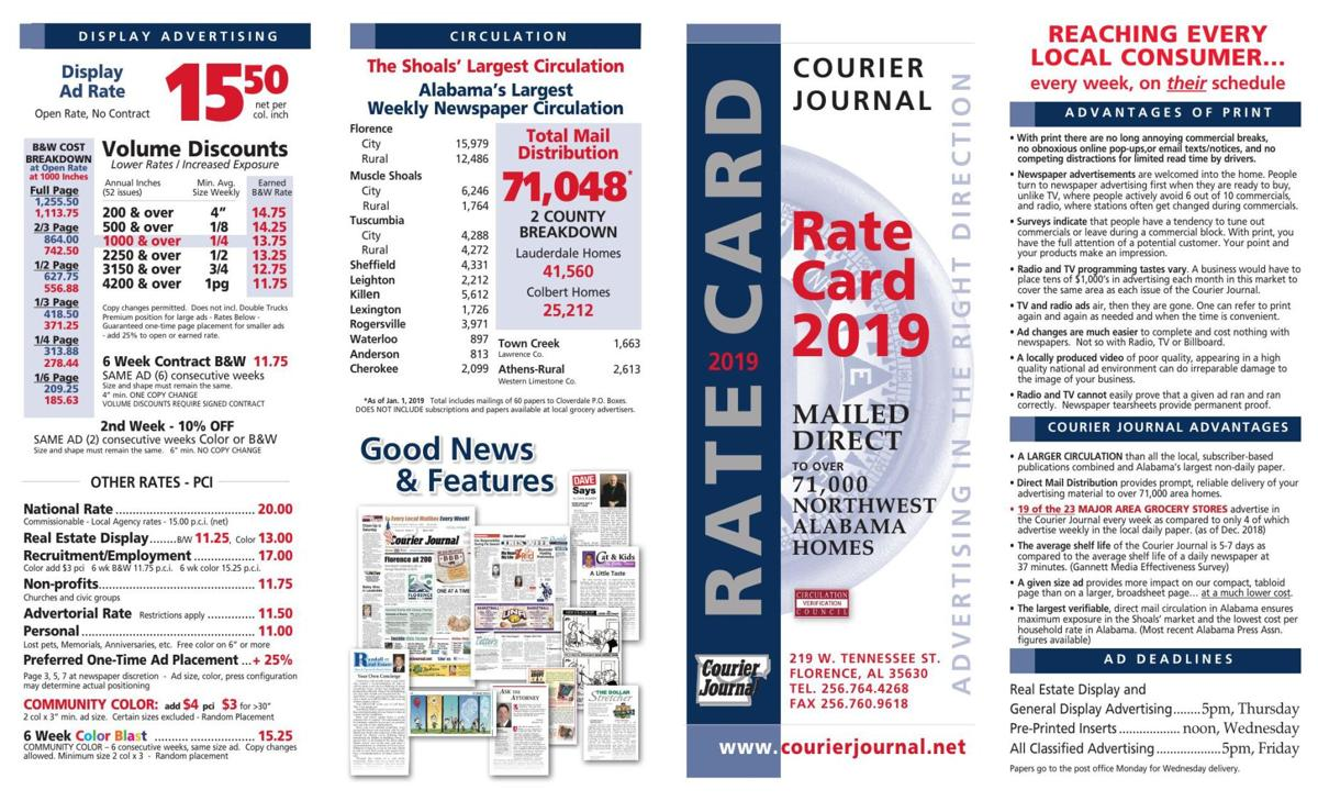 Official Rate Card