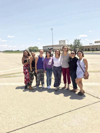 Cultural exchange takes off: foreign au pairs visit Peoria Air National Guard