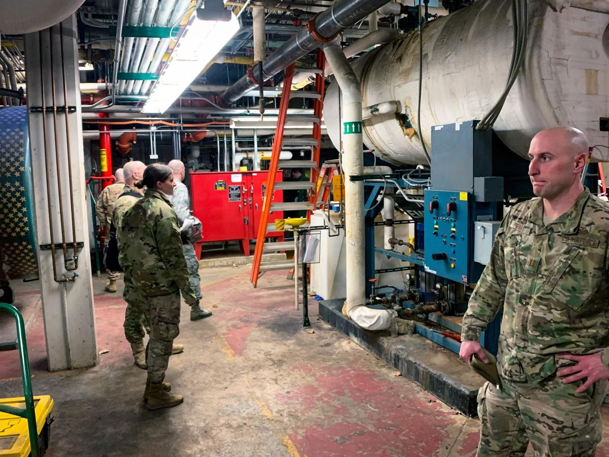 Airmen inspect Chicago area hospital