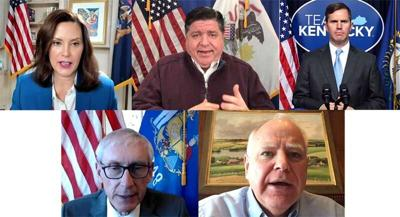 Midwest governors hold virtual joint news conference