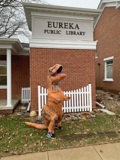 Dinosaurs at the library