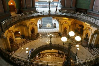 Capitol Rotunda nearly empty