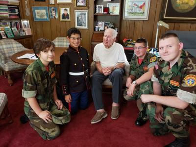 Walker with young marines.jpg