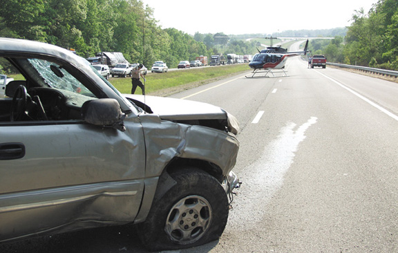 ... of Phillips Dr. in Crossville was critically injured in this traffic accident that occurred in the eastbound lane of I-40 between the Westel and Airport ...