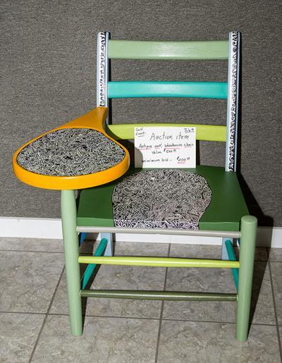 AG Silent Auction_Antique Solid Oak Painted Schoolhouse Chair.jpg