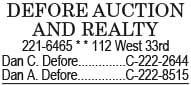 Defore Auction and Realty